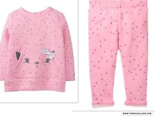 GYMBOREE NWT BUNNY LONG SLEEVE TOP AND MATCHING LEGGINGS NEW 12-18 MTHS