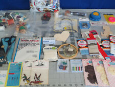 Sewing Supplies Lot, Zippers, Thread, Ribbon, Zippers, Shears, Template, Patches