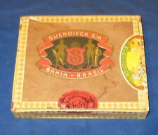 Vintage Suerdieck S/A Bahia Brazil Wooden Cigar Box