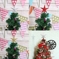 Christmas Tree Top Star Toppers Pendant for Xmas Ornaments Home Party Decor UK