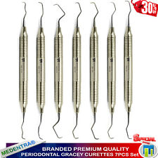 Medentra ® Root Canal Gracey CURETTES Set di 7 numero CHIRURGICI OSSO Curette