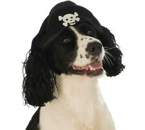 Pirate Hat Caribbean Skull Crossbones Halloween Pet Dog Cat Costume Accessory