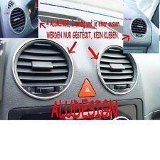4 Alu Ringe Lüftung Aluringe für VW Caddy K2  Chrom