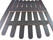 10x Black Nail Files Acrylic Emery Board Grit Nail Art Buffer Large Gel Cosmetic
