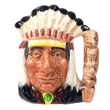 "Vintage 1966 North American Indian D6614 ROYAL DOULTON Head Mug 4.10"""