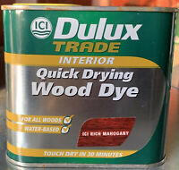 Dulux Trade Quick Drying Water Based Wood Stain Dye Mahogany 500ml