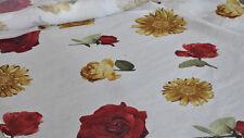 Scampoli di Tessuto in garza di lino con stampa floreale (Fior Bonito)