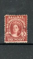 Bahamas 1863-77 1d brown-lake MLH