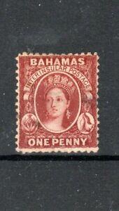 Bahamas 1863-77 1d brown-lake MLH