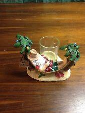 Yankee Candle Santa On Vacation Hammock Votive Holder HTF Island Holiday