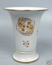 Fine Meissen Porcelain Yellow Dragon Pattern Trumpet Vase - Flower Drache PC