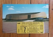 Rolling Stones Ticket Stub Nov 7,1969 Colorado St. Univ Opening Date Rare
