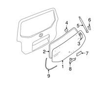 05-12 Nissan Pathfinder Rear Tailgate Glass Weatherstrip NEW OEM 90310-EA50A