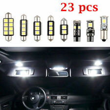23x LED White Car Inside Light Kit Plate Lamp Dome Trunk Mirror License Bulb New