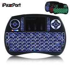 iPazzPort Mini 2.4GHz Wireless English Tastatur Keyboard Touchpad PC TV 3 Farbe