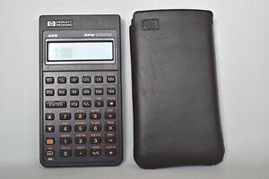 Vintage Hewlett Packard HP 42s Scientific Calculator and Case