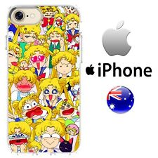 Sailor Moon iPhone Case Cover Silicone Cool Funny Princess Serena the hyena Cute