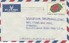 DB569) Nice Papua New Guinea Commercial cover, flowers, plants