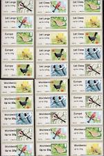 BIRDS 2 Gap Font ERROR POST & GO Wincor set of 30 also inc Worldwide Large 10g