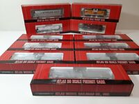 LOT OF 11 Atlas HO Scale Assorted Freight Cars