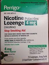72 Perrigo Nicotine Polacrilex Lozenge 4mg mint Exp: 2/2021 Ships Free!