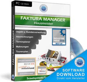 Faktura Manager Hausmeister Software Programm, EDV Verwaltung,Rechnungsprogramm