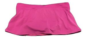 LANDS' END 12 Bright Pink Swim Skort Bikini With Attached Skirt EUC