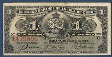 BILLET de BANQUE de 1 PESO Pick n° 47.a du 15 mai 1896 en SUP série G 1479890