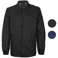Men's Lightweight Water Resistant Button Up Nylon Windbreaker Coach Jacket