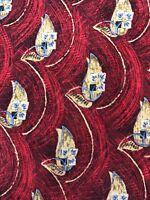 Robert Talbott Best of Class Mens Hand Made Silk Floral Tie Necktie Red & Tan