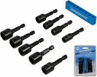 "Silverline 9pc Imperial Magnetic Nut Driver Set 1/4""-1/2"" Impact Drill Socket"