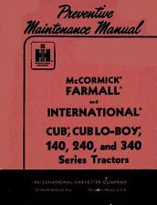 Farmall Preventive Maintenance Manual Cub 140 240 340 Coil Binding