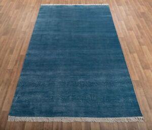 6x9 Blue Illusion Rug, Handmade Rug, Christmas Rug Free Shipping!!!....#2396