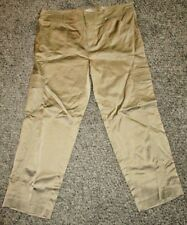 "NWT ""CACHE"" Gold CARGO CAPRI PANTS, Size 10 ~ FREE SHIPPING"