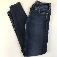 Silver Womens Jeans W25/L31 Camden Skinny Jeans Dark Wash Blue Denim