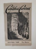 CARLSBAD CAVERNS National Park NEW MEXICO 1939 BROCHURE geology Travel