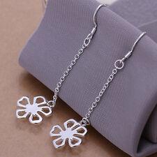 Fashion Jewelry 925Sterling Silver Long String Flower Dangle Earrings ELB089