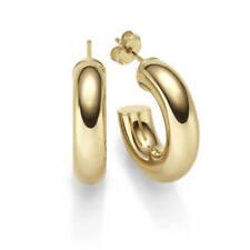 46414 Halbcreolen 925 Silber gold vergoldet Ohrringe Creolen