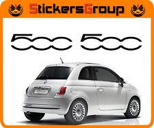 COPPIA ADESIVI LOGO 500 PER MINIGONNA FIAT 500 IN VINILE PRE SPAZIATO TUNING NEW