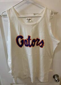 Florida Gators UF Tank Top Men XL White USA Made By Cotton Exchange Vintage 90s