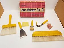 "Vintage National ""Deluxe"" Wallpaper Hanging Tool Kit New Old Stock Free Shipping"