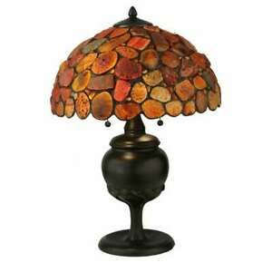 "Meyda Lighting 24""H Jasper Red Table Lamp - 138126"
