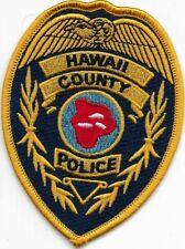 HAWAII  County Police Patch 10,8 cm Polizei Abzeichen 5/0 BIG ISLAND Aloha USA