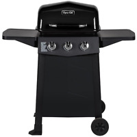 Dyna-Glo Propane Gas Grill 3-Stainless Steel Burners Open Cart in Black