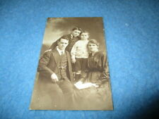 FAMILY PORTRAIT POSTCARD -  1919