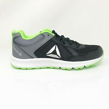 Reebok Mens Almotio 4.0 DV8675 Gray Green Running Shoes Lace Up Low Top Size 5