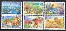 Animaux Préhistoriques Bulgarie (2) série complète 6 timbres oblitérés