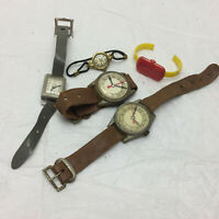 Vintage Toy Watch Lot of 5 Plastic
