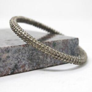Vtg Signed Givenchy Silver Toned Brutalist Textured Bangle Bracelet