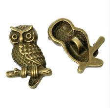 5 Metal Brass Buttons Shanked Owl 22 X 15mm Sewing Craft UK SELLER Bird Bronze